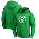 Denver Nuggets Fanatics Branded St. Patrick's Day White Logo Pullover Hoodie - Kelly Green