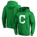 Cleveland Indians Fanatics Branded St. Patrick's Day White Logo Pullover Hoodie - Kelly Green