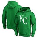 Kansas City Royals Fanatics Branded St. Patrick's Day White Logo Pullover Hoodie - Kelly Green