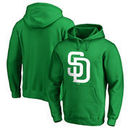 San Diego Padres Fanatics Branded St. Patrick's Day White Logo Pullover Hoodie - Kelly Green