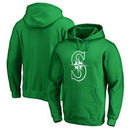 Seattle Mariners Fanatics Branded St. Patrick's Day White Logo Pullover Hoodie - Kelly Green