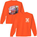 Clemson Tigers College Football Playoff 2016 National Champions Trophy Long Sleeve T-Shirt - Orange