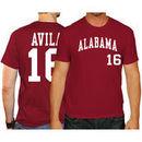 Alex Avila Alabama Crimson Tide Original Retro Brand Baseball Name & Number T-Shirt - Crimson