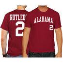 Josh Rutledge Alabama Crimson Tide Original Retro Brand Baseball Name & Number T-Shirt - Crimson