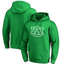 Auburn Tigers Fanatics Branded St. Patrick's Day White Logo Pullover Hoodie - Kelly Green