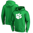 Clemson Tigers Fanatics Branded St. Patrick's Day White Logo Pullover Hoodie - Kelly Green