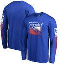 New York Rangers Fanatics Branded Gradient Logo Long Sleeve T-Shirt - Royal