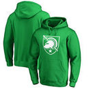 Army Black Knights Fanatics Branded St. Patrick's Day White Logo Pullover Hoodie - Kelly Green