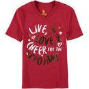 USC Trojans Girls Youth Knoll V-Neck T-Shirt - Cardinal