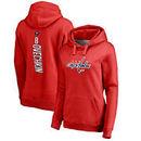 Alexander Ovechkin Washington Capitals Fanatics Branded Women's Backer Pullover Hoodie - Red
