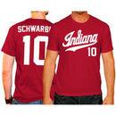 Kyle Schwarber Indiana Hoosiers Original Retro Brand Baseball Name & Number T-Shirt - Crimson