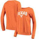 Texas Longhorns Women's Arch Pullover Crew Neck Sweatshirt - Texas Orange