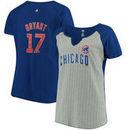 Kris Bryant Chicago Cubs Majestic Women's Plus Size Pinstripe Player T-Shirt - Gray/Royal