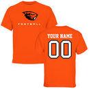 Oregon State Beavers Fanatics Branded Personalized Football T-Shirt - Orange