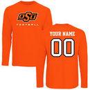 Oklahoma State Cowboys Fanatics Branded Personalized Football Long Sleeve T-Shirt - Orange