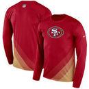 San Francisco 49ers Nike Sideline Legend Prism Performance Long Sleeve T-Shirt - Scarlet