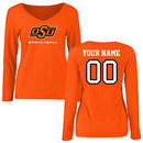 Oklahoma State Cowboys Fanatics Branded Women's Personalized Basketball Name & Number Long Sleeve T-Shirt - Orange
