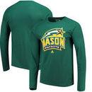 George Mason Patriots adidas Logo Ultimate climalite Long Sleeve T-Shirt - Hunter Green