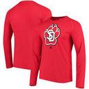 South Dakota Coyotes adidas Logo Ultimate Performance Long Sleeve T-Shirt - Red
