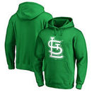 St. Louis Cardinals Fanatics Branded St. Patrick's Day White Logo Pullover Hoodie - Kelly Green