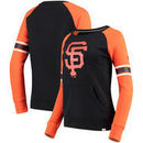 San Francisco Giants Fanatics Branded Women's Iconic Fleece Crew Sweatshirt - Black/Orange