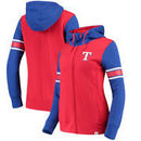 Texas Rangers Fanatics Branded Women's Iconic Full-Zip Hoodie - Red/Royal