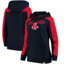Boston Red Sox Fanatics Branded Women's Iconic Pullover Hoodie - Navy/Red