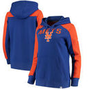 New York Mets Fanatics Branded Women's Iconic Pullover Hoodie - Royal/Orange