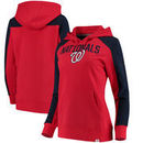 Washington Nationals Fanatics Branded Women's Iconic Pullover Hoodie - Red/Navy