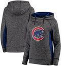 Chicago Cubs Fanatics Branded Women's Static Fleece Pullover Hoodie - Heathered Gray
