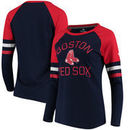 Boston Red Sox Fanatics Branded Women's Iconic Long Sleeve T-Shirt - Navy/Red