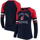 Cleveland Indians Fanatics Branded Women's Iconic Long Sleeve T-Shirt - Navy/Red