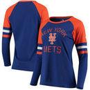 New York Mets Fanatics Branded Women's Iconic Long Sleeve T-Shirt - Royal/Orange