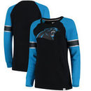 Carolina Panthers NFL Pro Line by Fanatics Branded Women's Iconic Fleece Pullover Sweatshirt - Blue/Black