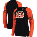 Cincinnati Bengals NFL Pro Line by Fanatics Branded Women's Iconic Fleece Pullover Sweatshirt – Black/Orange