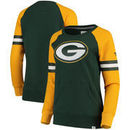 Green Bay Packers NFL Pro Line by Fanatics Branded Women's Iconic Fleece Pullover Sweatshirt – Green/Gold