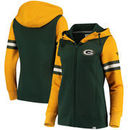 Green Bay Packers NFL Pro Line by Fanatics Branded Women's Iconic Fleece Full-Zip Hoodie – Green/Gold