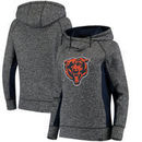 Chicago Bears NFL Pro Line by Fanatics Branded Women's Static Pullover Hoodie - Heathered Black/Navy
