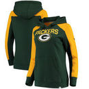 Green Bay Packers NFL Pro Line by Fanatics Branded Women's Iconic Fleece Pullover Hoodie – Green/Gold