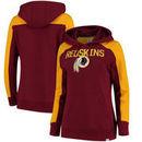 Washington Redskins NFL Pro Line by Fanatics Branded Women's Iconic Fleece Pullover Hoodie – Burgundy/Gold