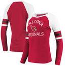 Arizona Cardinals NFL Pro Line by Fanatics Branded Women's Iconic Long Sleeve T-Shirt - Cardinal/White