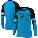 Carolina Panthers NFL Pro Line by Fanatics Branded Women's Iconic Long Sleeve T-Shirt - Blue/Black