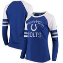 Indianapolis Colts NFL Pro Line by Fanatics Branded Women's Iconic Long Sleeve T-Shirt - Royal/White