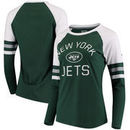 New York Jets NFL Pro Line by Fanatics Branded Women's Iconic Long Sleeve T-Shirt - Green/White