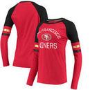San Francisco 49ers NFL Pro Line by Fanatics Branded Women's Iconic Long Sleeve T-Shirt - Scarlet/Black