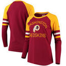 Washington Redskins NFL Pro Line by Fanatics Branded Women's Iconic Long Sleeve T-Shirt - Burgundy/Gold