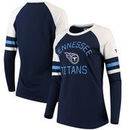 Tennessee Titans NFL Pro Line by Fanatics Branded Women's Iconic Long Sleeve T-Shirt - Navy/White