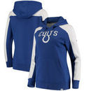 Indianapolis Colts NFL Pro Line by Fanatics Branded Women's Iconic Fleece Pullover Hoodie – Royal/White