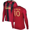 Miguel Almiron Atlanta United FC adidas 2017 5-Stripe Primary Authentic Long Sleeve Jersey - Red/Black