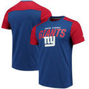New York Giants NFL Pro Line by Fanatics Branded Iconic Color Blocked T-Shirt - Royal/Red